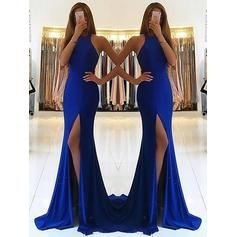 Jersey Gorgeous Evening Dresses With Halter