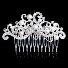 """Combs & Barrettes Wedding/Special Occasion Alloy/Imitation Pearls 3.35""""(Approx.8.5cm) 2.36""""(Approx.6cm) Headpieces"""
