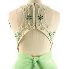 Sin mangas Delicado Tul Cabestro Vestidos de baile de promoción (018217323)