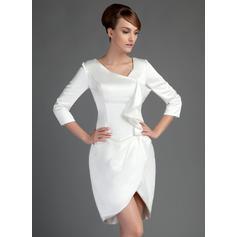 Sheath/Column Charmeuse Glamorous Mother of the Bride Dresses (008211409)