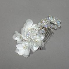 "Combs & Barrettes Wedding/Special Occasion/Party Crystal/Rhinestone/Silk Flower 3.94""(Approx.10cm) 1.97""(Approx.5cm) Headpieces"