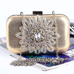 """Clutches/Satchel Wedding/Ceremony & Party Crystal/ Rhinestone/PU Lovely 6.3""""(Approx.16cm) Clutches & Evening Bags"""