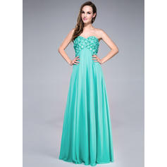 Stunning Empire Chiffon Floor-Length Sleeveless Prom Dresses (018042690)