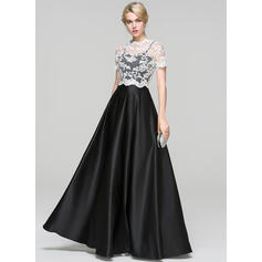 Ball-Gown Sweetheart Floor-Length Satin Evening Dress (017093489)
