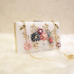 """Clutches Wedding/Ceremony & Party PU/Alloy Fashional 7.87""""(Approx.20cm) Clutches & Evening Bags"""