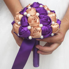 "Bridal Bouquets/Bridesmaid Bouquets Round Wedding/Party Satin 5.91""(Approx.15cm) Wedding Flowers"