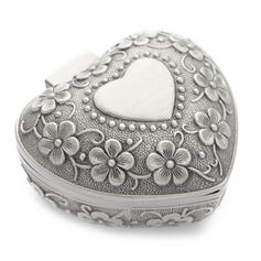 "Jewelry Box Alloy/Silver Plated Ladies' Heart Shaped 3.15""(Approx.8cm) Wedding & Party Jewelry"