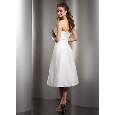 A-formet/Prinsesse Te-lengde Taft Te-lengde Brudepikekjoler (007001078)