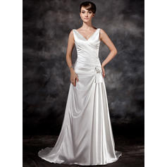 Sweetheart General Plus - A-Line/Princess Charmeuse Wedding Dresses (002196841)