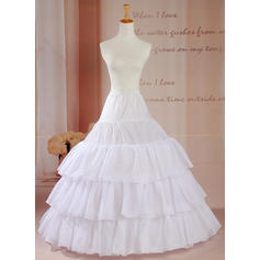 Petticoats Floor-length Tulle Netting Ball Gown Slip/Full Gown Slip 3 Tiers Petticoats