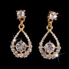 Earrings Alloy/Rhinestones Pierced Ladies' Beautiful Wedding & Party Jewelry