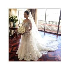 flowy white fall wedding dresses