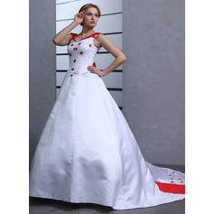 General Plus Sweetheart Ball-Gown - Satin Wedding Dresses