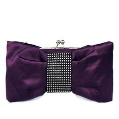 Clutches Wedding/Ceremony & Party Silk Kiss lock closure Unique Clutches & Evening Bags