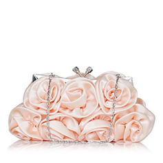 Clutches Ceremony & Party Silk Kiss lock closure Gorgeous Clutches & Evening Bags