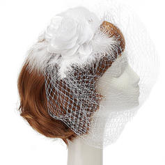 "Fascinators Bryllup/Party Kunstig Silke/Netto Garn/Fjær 7.87""(Ca. 20cm) 7.87""(Ca. 20cm) Hodepynt"