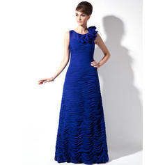Delicate Chiffon Scoop Neck Sheath/Column Mother of the Bride Dresses (008006054)