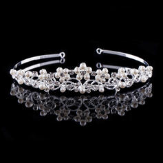 "Tiaras Wedding/Special Occasion/Outdoor/Party Rhinestone/Alloy/Imitation Pearls 5.53""(Approx.14cm) 1.18""(Approx.3cm) Headpieces"