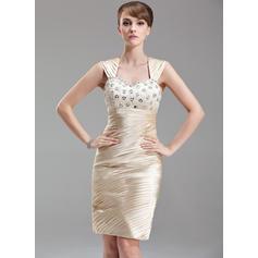 Princess Knee-Length Sheath/Column Charmeuse Mother of the Bride Dresses (008211029)