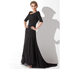 Fashion V-neck A-Line/Princess Chiffon Evening Dresses (017200832)