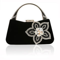 Totes Wedding/Ceremony & Party Velvet Magnetic Closure Elegant Clutches & Evening Bags