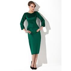 Stunning Tea-Length Sheath/Column Satin Mother of the Bride Dresses