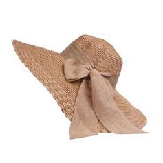 Sonar Naisten Kaunis Punoitetut paalinpurkain jossa Bowknot Levyke hattu/Beach / Sun hatut