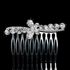 "Combs & Barrettes Wedding/Special Occasion/Party/Carnival Rhinestone/Alloy 2.83""(Approx.7.2cm) 1.97""(Approx.5cm) Headpieces"