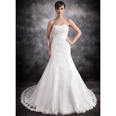 simple beige wedding dresses