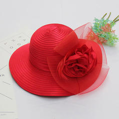Net Yarn With Feather/Silk Flower/Tulle Bowler/Cloche Hat Gorgeous/Elegant Ladies' Hats