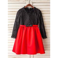 Satén/Tul Corte A/Princesa Lazo(s) Moderno Vestidos para niña de arras (010212075)