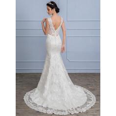 Backless una línea de vestidos de novia