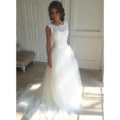 Sleeveless Regular Straps Tulle A-Line/Princess Wedding Dresses