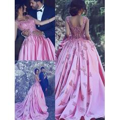 princess blue prom dresses ball gown