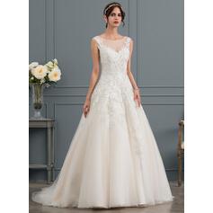 simples vestidos de noiva com mangas