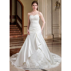 Sweetheart General Plus - A-Line/Princess Satin Wedding Dresses (002196824)