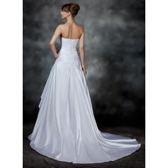cheap low cut back wedding dresses