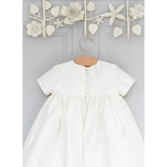 Satin Rund-halsudskæring Baby Girl's Dåbsejakker med Korte ærmer (2001216812)