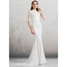 Spets Jacka Sexig Bröllopsklänningar (002088480)