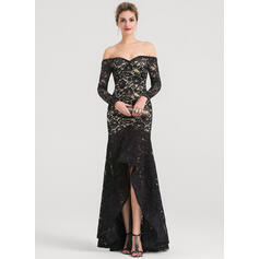 flattering evening dresses with sleeves