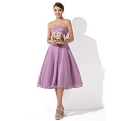 A-Line/Princess Knee-Length Chiffon Knee-Length Bridesmaid Dresses (007001109)
