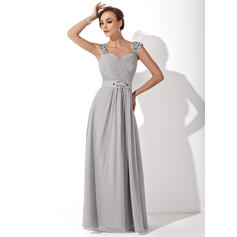 A-Line/Princess Sweetheart Chiffon Sleeveless Floor-Length Ruffle Beading Mother of the Bride Dresses