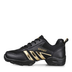 Men's Sneakers Sneakers Real Leather Fabric With Lace-up Dance Shoes