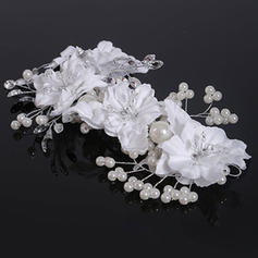 "Hairpins Wedding Crystal/Imitation Pearls/Satin 6.69""(Approx.17cm) 3.94""(Approx.10cm) Headpieces"
