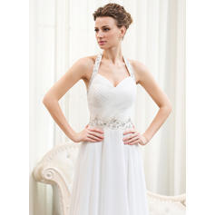 halter top wedding dresses white
