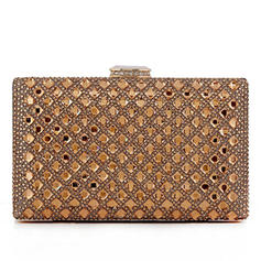 Clutches Wedding/Ceremony & Party Crystal/ Rhinestone/Alloy Clip Closure Elegant Clutches & Evening Bags