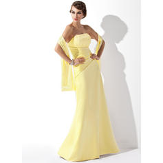A-Line/Princess Strapless Ruffle Beading Sequins Satin Lace Bridesmaid Dresses