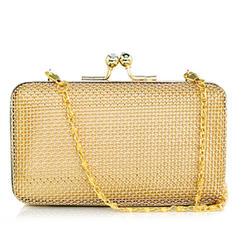 Clutches Ceremony & Party Stainless Steel Kiss lock closure Elegant Clutches & Evening Bags
