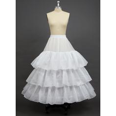 Petticoats Floor-length Polyester A-Line Slip 3 Tiers Petticoats
