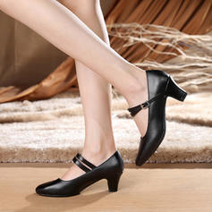 Women's Character Shoes Heels Pumps Real Leather Dance Shoes